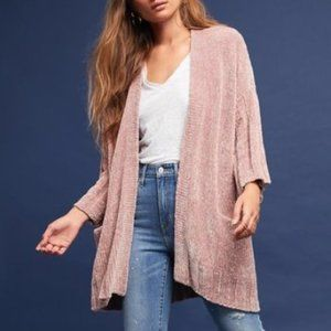 Anthropologie / Chenille Cardigan by Moth Pink